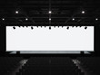 canvas print picture - Conference hall mockup screen