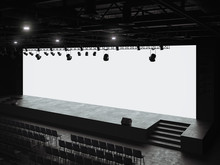 Conference Hall Mockup Screen