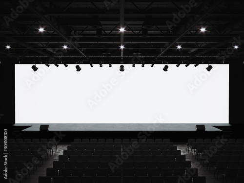 Fotomural  Conference hall mockup screen