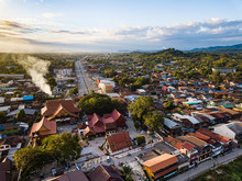 Chiang Khan City In The Morning