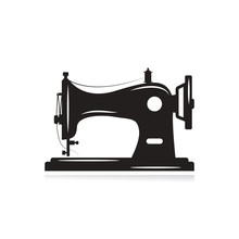 Manual Sew Machine Icon. Simple Illustration Of Manual Sew Machine Icon For Web Design Isolated On White Background.