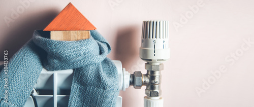 Obraz house model with scarf  in home - fototapety do salonu