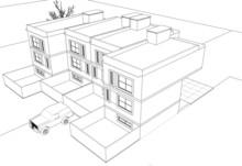 Townhouse Sketch Concept 3d G...