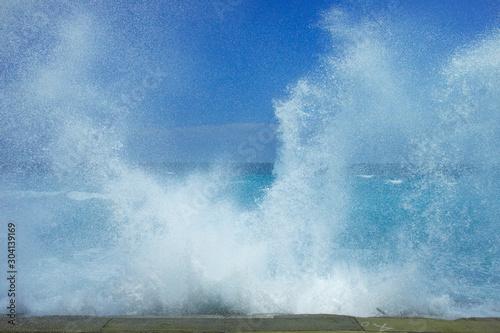 砕ける波 Slika na platnu