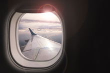 Airplane Wing With Beautiful S...