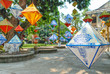 Colorful lampions as decoration in Imperial City of Hue, Vietnam
