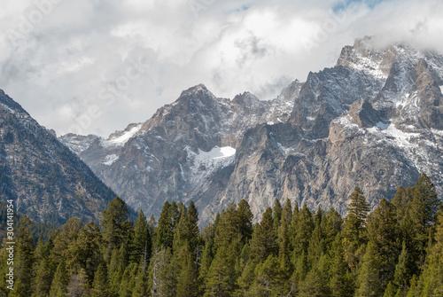 Scenic Landscape in Grand Teton National Park Wyoming in Autumn