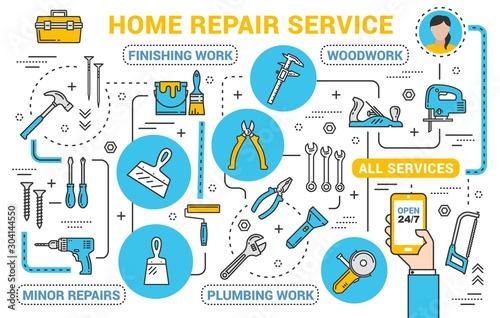 Obraz Construction, repair and renovation service - fototapety do salonu