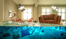 Living Room Flooded With Float...