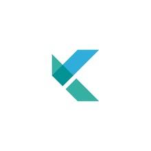 K Initial Logo Design Vector
