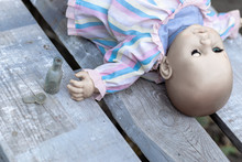Lying Doll And A Small Opened ...