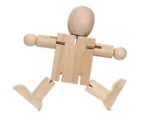 Wooden Figure Man Isolated On ...