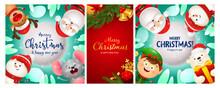Christmas Postcard Set With Go...