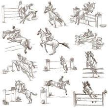 Horses - Show Jumping. Collect...