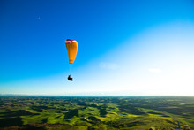 A Man Soars Over The Palouse W...