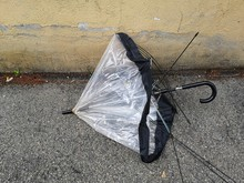 Broken Umbrella Abandoned On T...