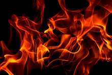 Red Fire Forms Abstraction In ...