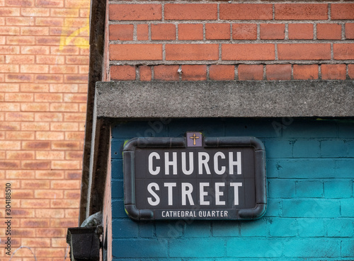 Church Street sign, Belfast Fototapeta