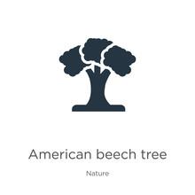 American Beech Tree Icon Vecto...