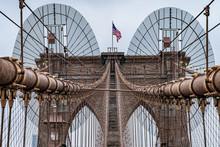 Detail Of Brooklyn Bridge