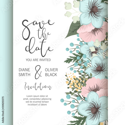 Floral Wedding Background Pink And Mint Green Flower Pattern Buy This Stock Vector And Explore Similar Vectors At Adobe Stock Adobe Stock