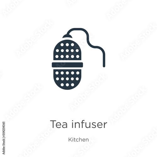 Tea infuser icon vector Fototapeta