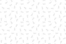 Paper Plane Seamless Pettern. Message Symbol Texture. Black White Print. Vector Illustration