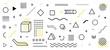 Shape geometric element. Trendy geometric shape background. Minimal poster 3d shape abstract. Simple element illustration. Vector
