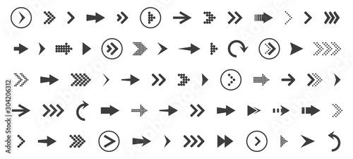 Obraz na plátně  Arrows set icon