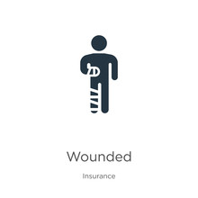 Wounded Icon Vector. Trendy Fl...