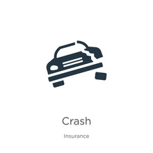 Crash Icon Vector. Trendy Flat Crash Icon From Insurance Collection Isolated On White Background. Vector Illustration Can Be Used For Web And Mobile Graphic Design, Logo, Eps10
