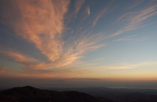 Sunset Over The Guanacaste Peninsula, The Gulf Of Nicoya And The Colorado Gulf From Monteverde. Costa Rica