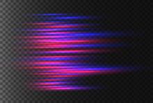 Red Horizontal Rays.