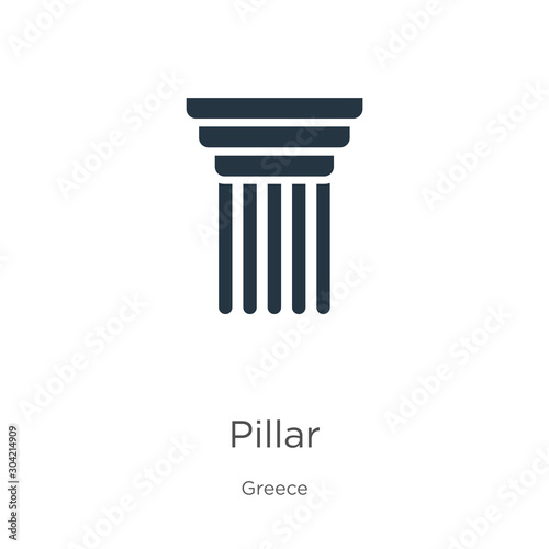 Foto Pillar icon vector