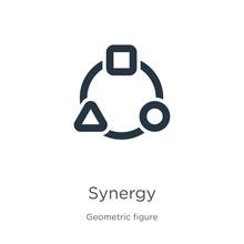 Synergy Icon Vector. Trendy Fl...