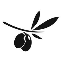 Olive Icon. Simple Illustratio...
