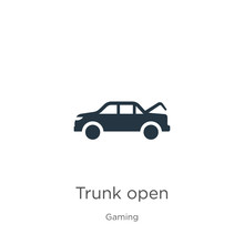 Trunk Open Icon Vector. Trendy...