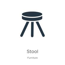 Stool Icon Vector. Trendy Flat...