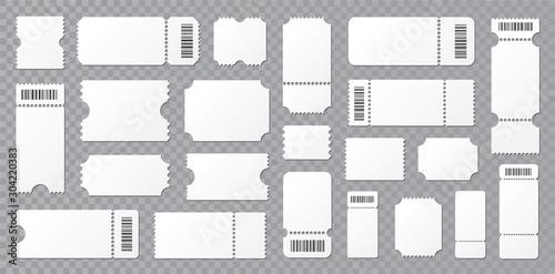 Set blank ticket template Canvas Print