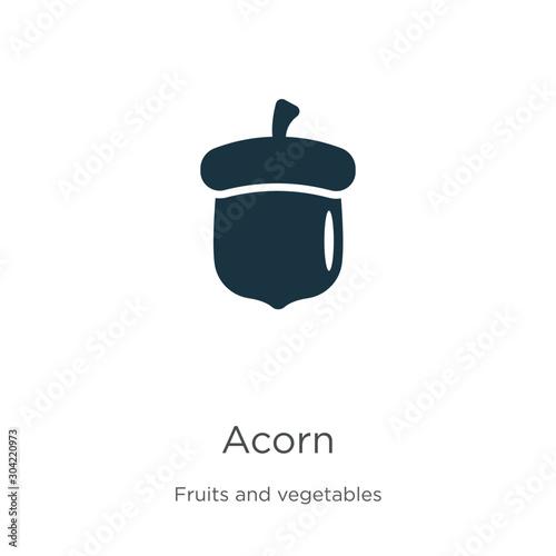 Acorn icon vector Canvas Print