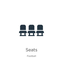 Seats Icon Vector. Trendy Flat Seats Icon From Football Collection Isolated On White Background. Vector Illustration Can Be Used For Web And Mobile Graphic Design, Logo, Eps10