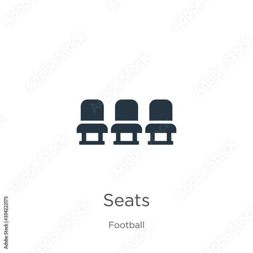 Seats icon vector Slika na platnu