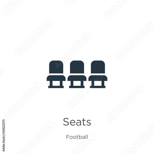 Seats icon vector Fototapet