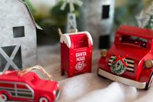 Little Red Truck Model Christmas Tree Ornament