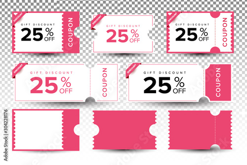 Fotomural Coupon ticket graphics design