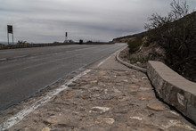 The Franklin Mountains  Scenic Overlook Road In Texas.