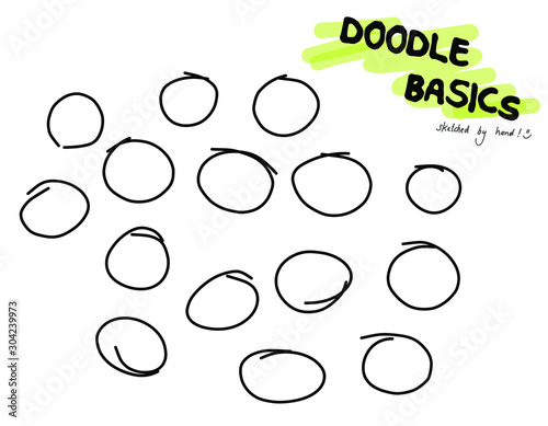 Doodle Sketchnote Template for Workshops, Seminar, Flipchart and Graphic Recordi Wallpaper Mural