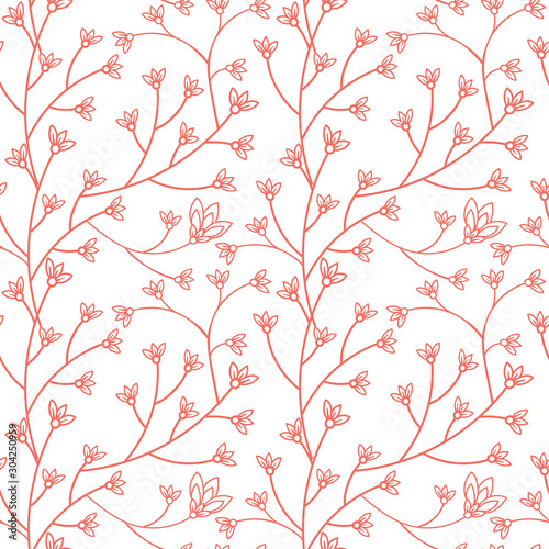 Floral seamless pattern design Fotobehang