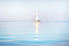 White Sloop Rigged Yacht Saili...