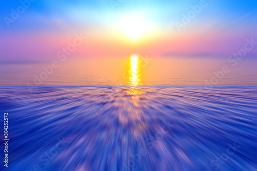 Foto auf Leinwand Dunkelblau Motion blurred background of refraction in the sea